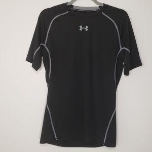 Under Armour Black Short Sleeve Shirt, Lg